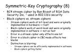 symmetric key cryptography 8