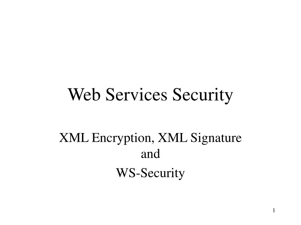 web services security l.