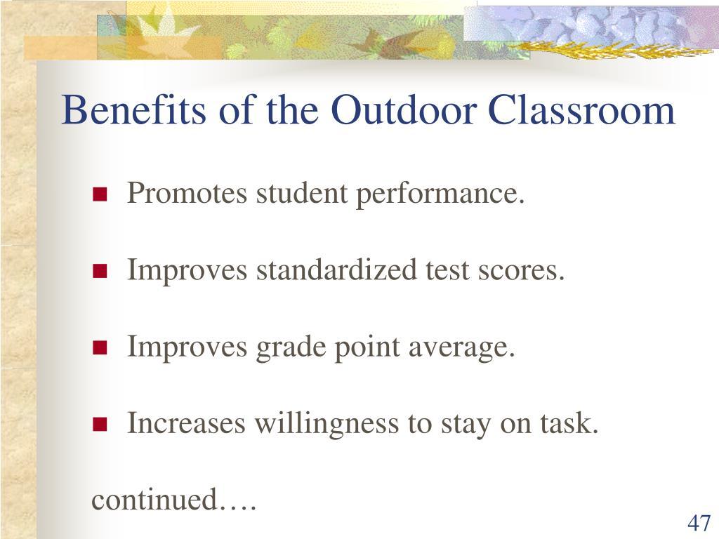 Benefits of the Outdoor Classroom