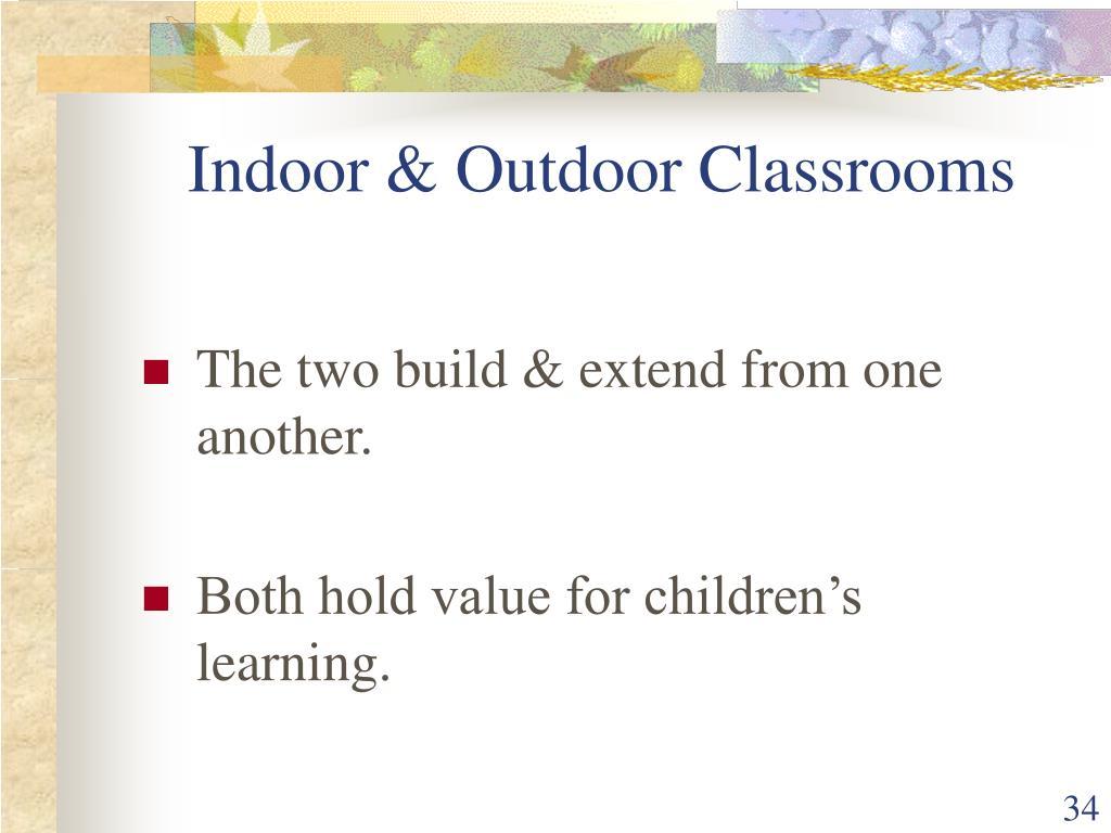 Indoor & Outdoor Classrooms