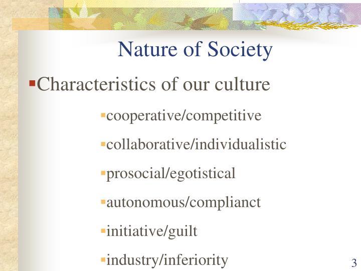 Nature of society