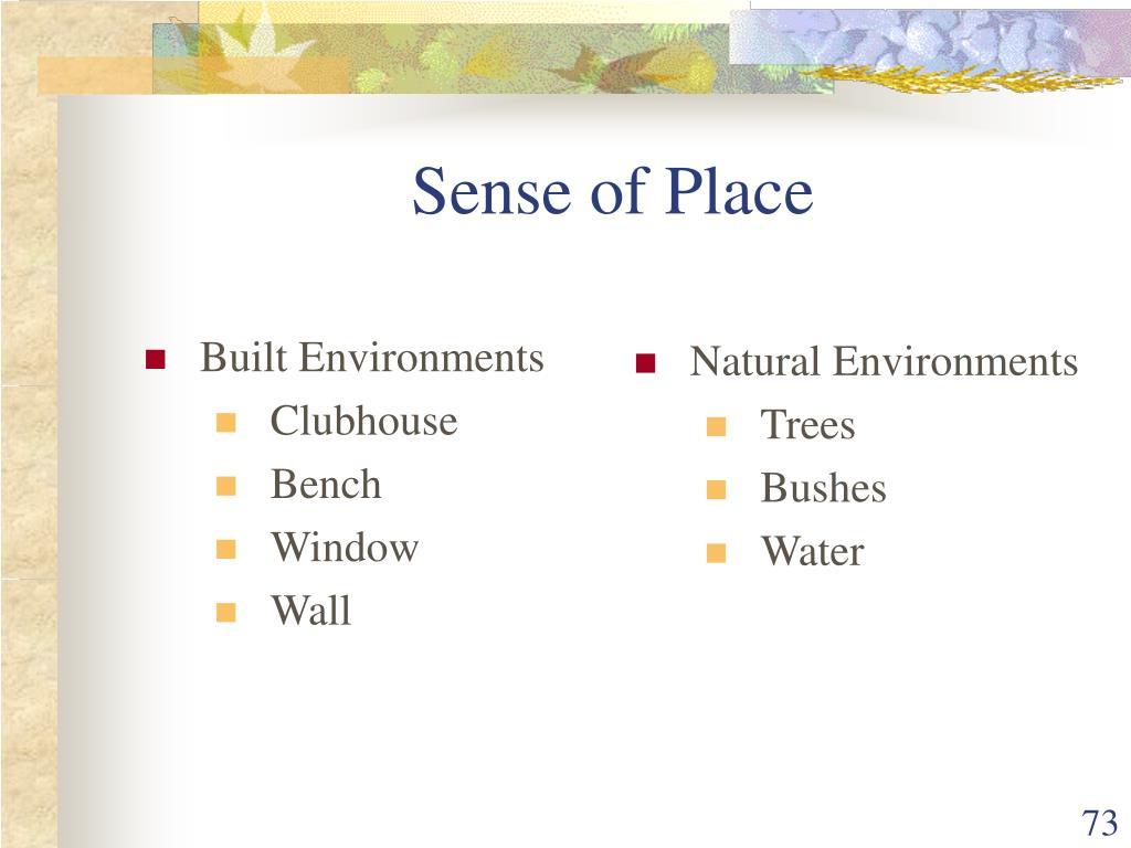 Built Environments