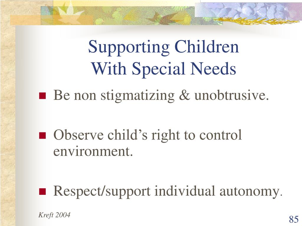 Supporting Children