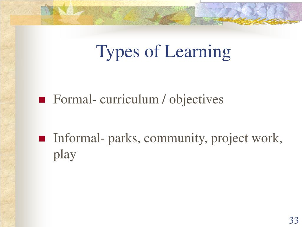 Types of Learning