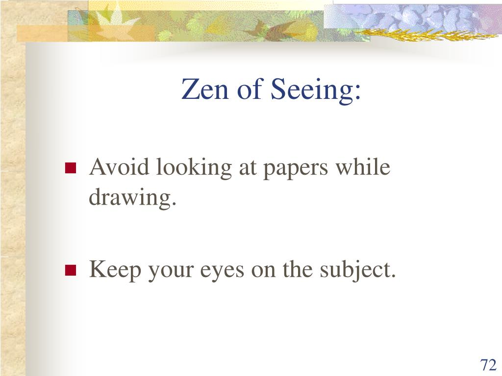 Zen of Seeing: