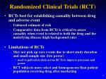 randomized clinical trials rct