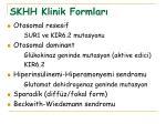 skhh klinik formlar