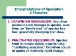 interpretations of speciation 2 theories