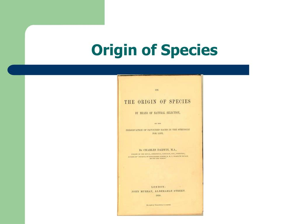 origin of species l.