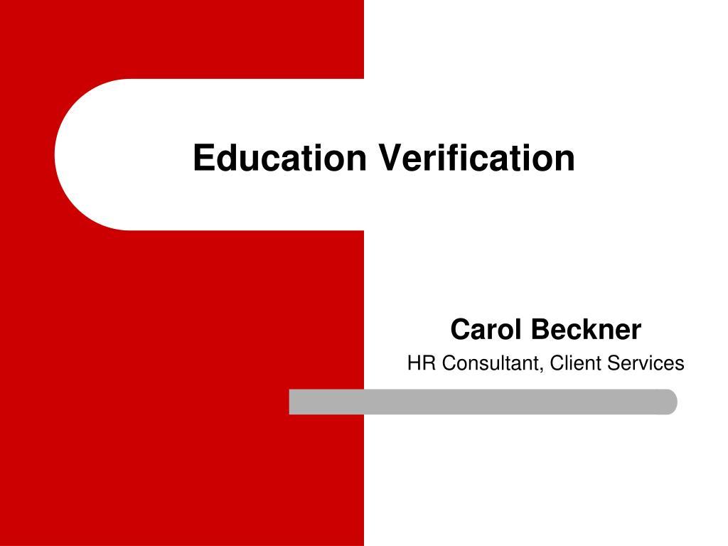 education verification l.