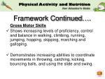framework continued
