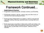 framework continued15