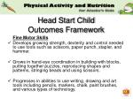 head start child outcomes framework