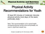 physical activity recommendations for youth
