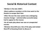 social historical context