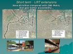short term lrt extensions