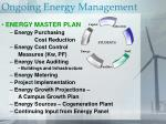 ongoing energy management