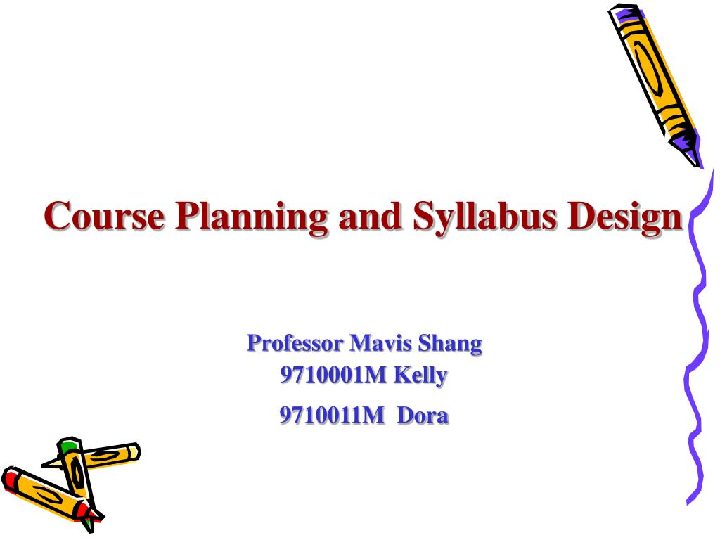 course planning and syllabus design l.