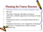 planning the course structure25