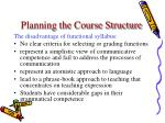 planning the course structure29
