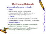 the course rationale5