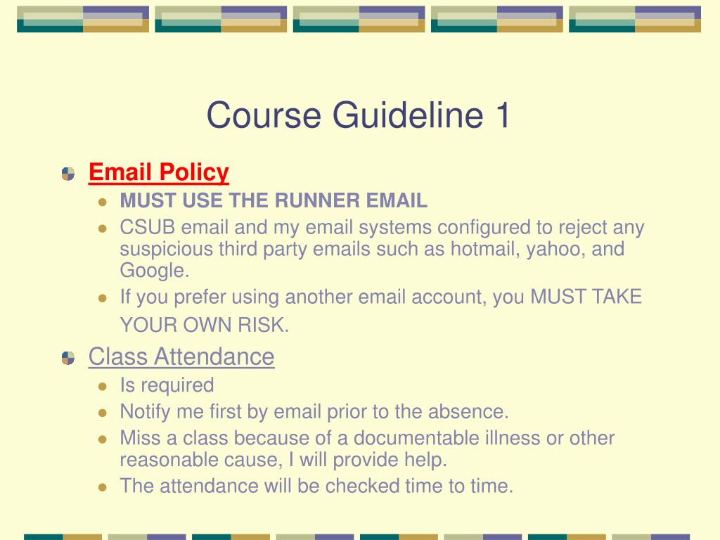 Course Guideline 1