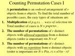 counting permutation cases i