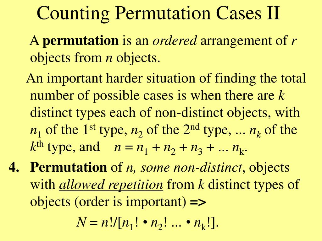 Counting Permutation Cases II