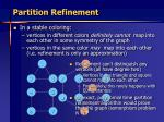 partition refinement36
