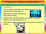 corporate culture is reflected in