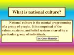 what is national culture