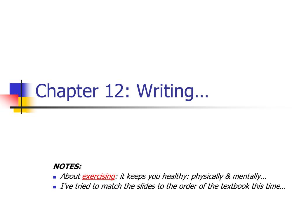 chapter 12 writing l.