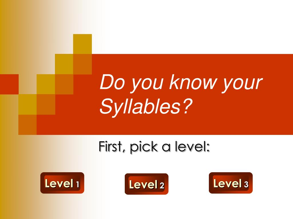 do you know your syllables l.