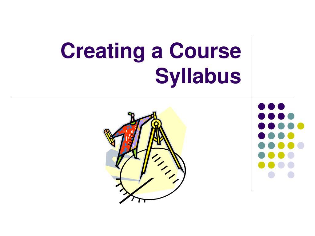 creating a course syllabus l.