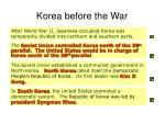 korea before the war