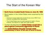the start of the korean war
