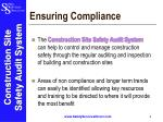 ensuring compliance