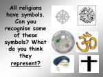 all religions have symbols can you recognise some of these symbols what do you think they represent