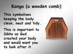 kanga a wooden comb