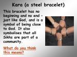 kara a steel bracelet