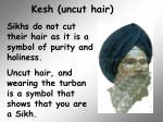 kesh uncut hair