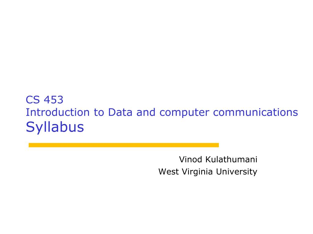 vinod kulathumani west virginia university l.