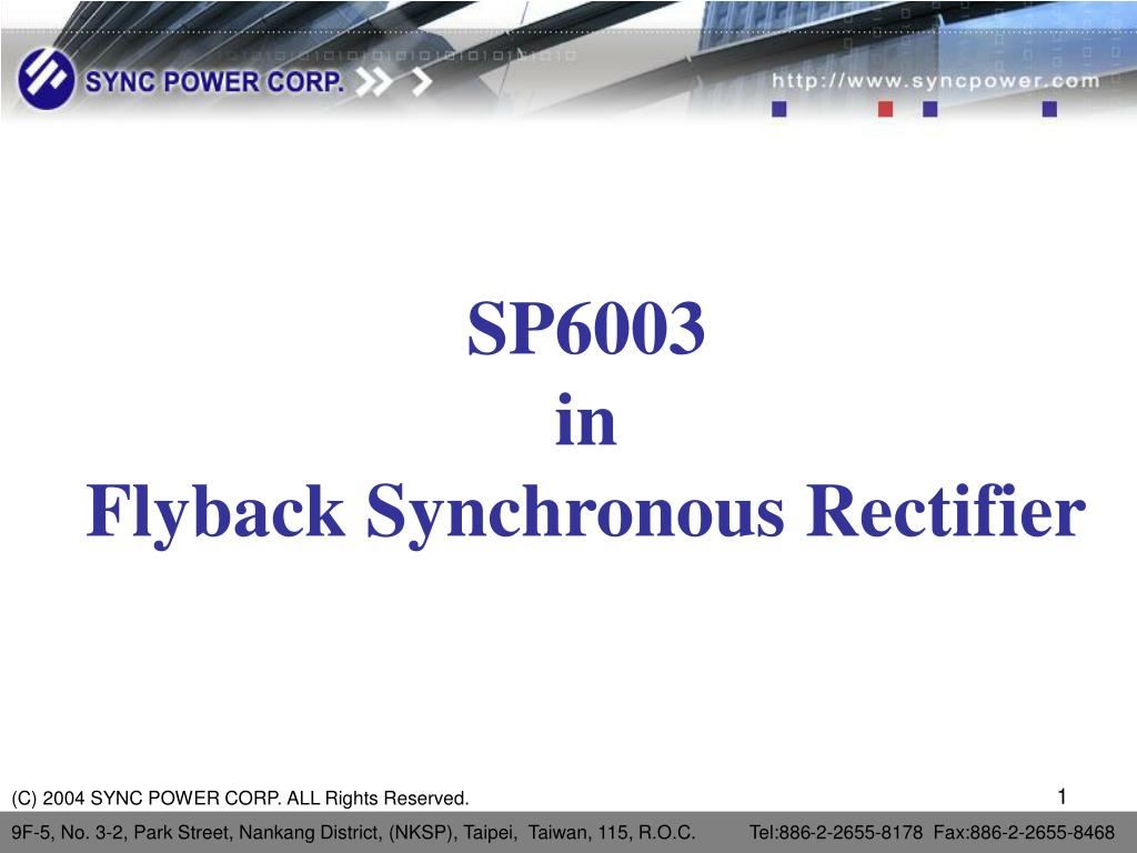 sp6003 in flyback synchronous rectifier l.