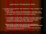 and more graduation info