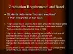 graduation requirements and band