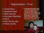 opportunities class