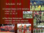 schedule fall