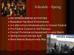 schedule spring