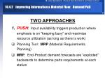 10 4 2 improving information material flow demand pull