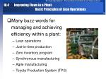 10 4 improving flows in a plant basic principles of lean operations